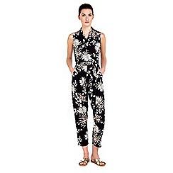 Wallis - Petite monochrome oriental jumpsuit