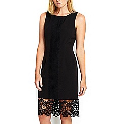 Wallis - Petite black lace panel dress