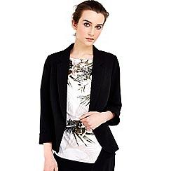 Wallis - Petite black crepe jacket