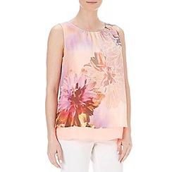 Wallis - Petite floral printed pink top