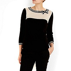 Wallis - Petite stone block bow jumper