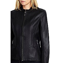 Wallis - Black zip front jacket
