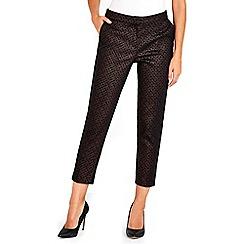 Wallis - Petite bronze textured trouser