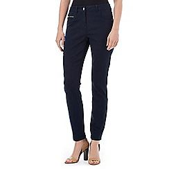 Wallis - Petite navy zip pocket trouser