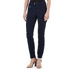 Wallis - Petite navy zip pocket trouser