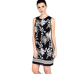 Wallis - Petite monochrome oriental shift dress