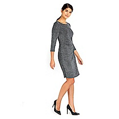 Wallis - Petite sparkle tuckside dress