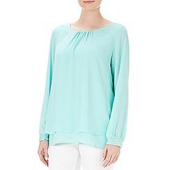 Wallis - Petite embellished cuff blouse