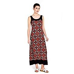 Wallis - Petite mosaic border maxi dress