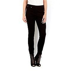 Wallis - Petite sidezip black trouser