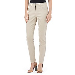 Wallis - Petite stone zip pocket trouser
