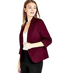 Wallis - Petite berry ribbed jacket