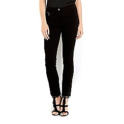 Wallis - Petite black zip pocket trousers