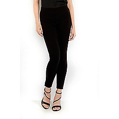 Wallis - Petite black multi stitch leggings