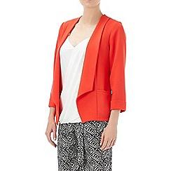 Wallis - Petite coral crepe jacket
