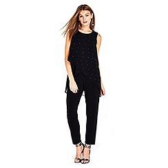 Wallis - Petite black overlayer jumpsuit