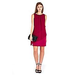 Wallis - Petite fuchsia tiered dress