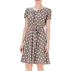 Wallis - Petite spot flare skirt dress