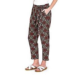 Wallis - Petite mosaic print trouser