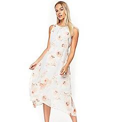 Wallis - Petite grey monochrome floral dress