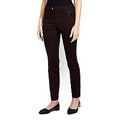 Wallis - Petite brown zip pocket trouser