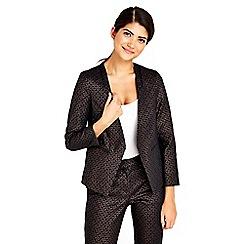 Wallis - Petite bronze textured jacket