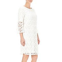 Wallis - Petite bell sleeve lace dress