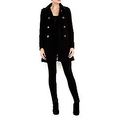 Wallis - Petite black military coat
