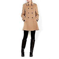 Wallis - Petite camel military coat