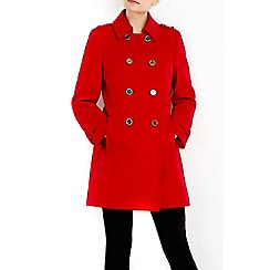 Wallis - Petite red military coat