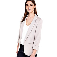 Wallis - Petite stone ribbed blazer jacket