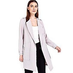 Wallis - Petite silver longline jacket