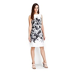 Wallis - Petite ivory lily shift dress