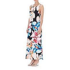 Wallis - Petite navy print maxi dress