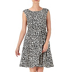 Wallis - Petite spot fit and flare dress