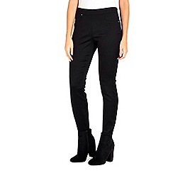 Wallis - Petite black side zip trouser