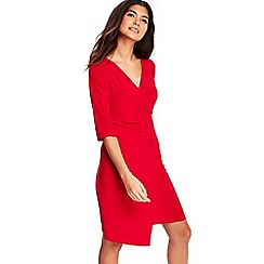 Wallis - Petite pink wrap dress