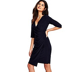 Wallis - Petite navy wrap dress