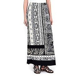 Wallis - Petite neutral paisley maxi skirt
