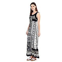 Wallis - Petite neutral paisley maxi dress