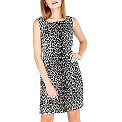 Wallis - Petite animal pocket shift dress