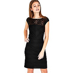 Wallis - Petite black shutter dress