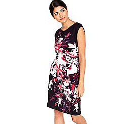 Wallis - Petite floral ruche side dress