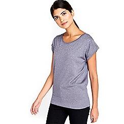 Wallis - Petite grey metallic top