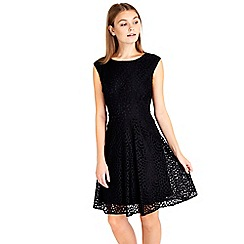 Wallis - Petite black lace dress