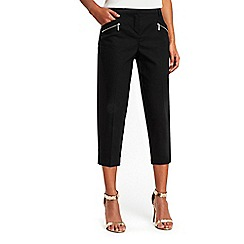Wallis - Petite black cropped trousers
