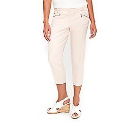 Wallis - Petite pink cropped trousers