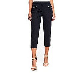Wallis - Petite navy cropped trousers