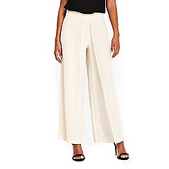 Wallis - Petite nude overlayer trousers