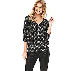 Wallis - Petite patterned sparkle blouse